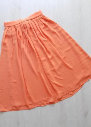 Летняя шифоновая юбка миди mango испания