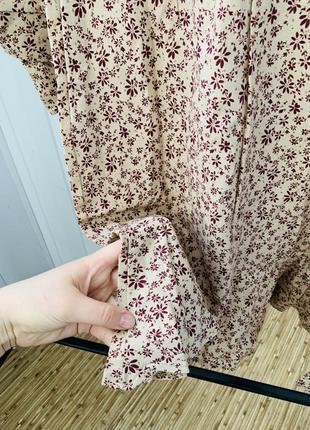 Распродажа: все от 99 грн! только до 5.06!  льняное платье бежевое в цветы новое5 фото