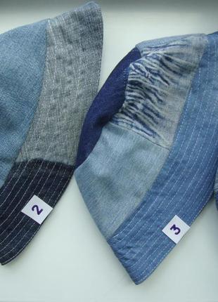 Панамка шляпа двусторонняя из разного джинса