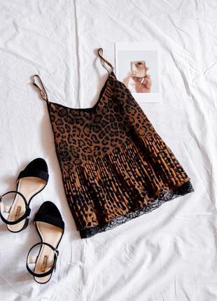 Шифоновая майка леопардовая