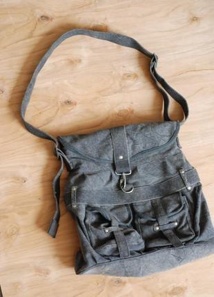 Текстильная сумка-почтальонка