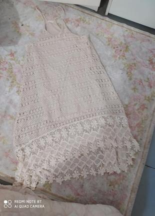 Вязаное крючком платье hm