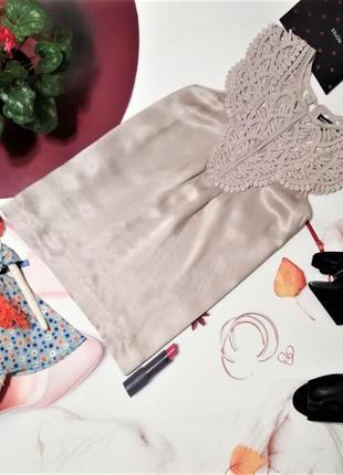 Блуза warehouse, 100% натуральный шелк, размер 14/42