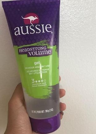 Aussie headstrong volume стайлинговый гель для волос 200ml
