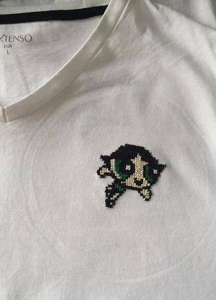 """Стильная футболка """"power puff girls"""" ручной вышивки3 фото"""