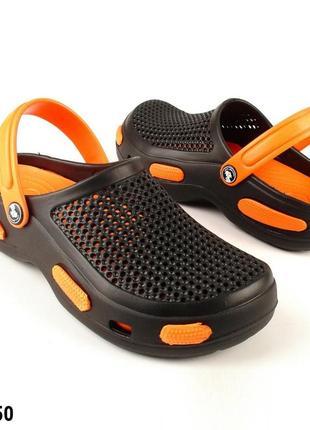 Сабо, кроксы мужские, черные, р. 40-46; медицинская обувь, 115550