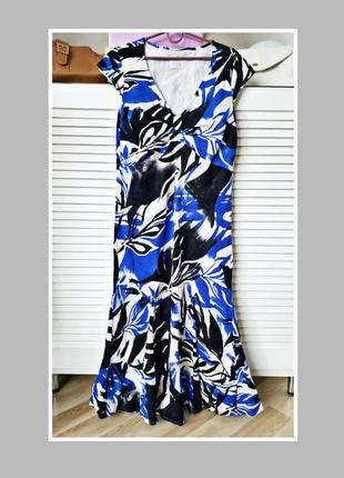 Шикарное платье рыбка,льняное платье деловое,платье с воланом