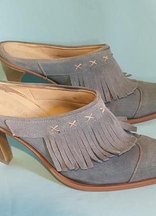 Туфли замшевые .италия.
