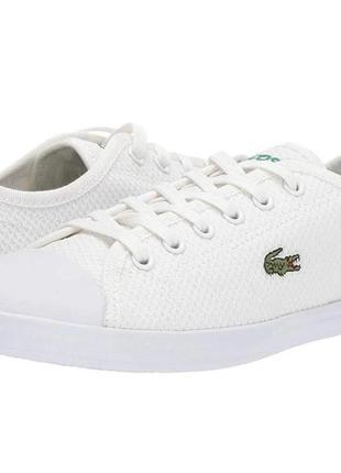 Белые кеды lacoste, унисекс