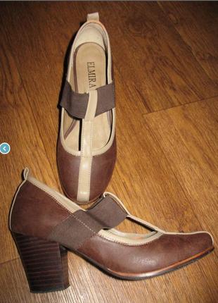 Стильные кожаные туфли elmira