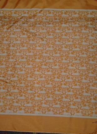Шелковый платок reli с оригинальным рисунком