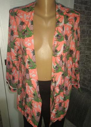 Жакет легкий пиджак в ананасах asos в пижамном стиле летний