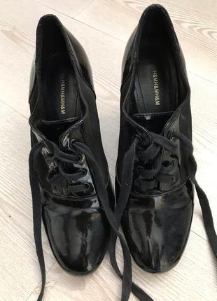 Лаковые туфли ботильоны 37р h&m