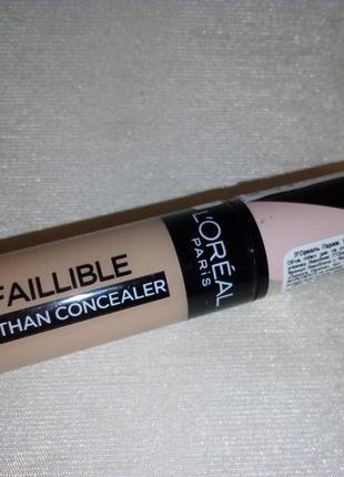 Стойкий мультифункциональный консилер l'oreal paris infaillible concealer
