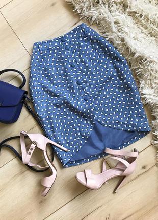 Divided красивейшая юбка в горох