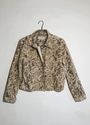 Джинсовка куртка змеиный принт джинсовая куртка