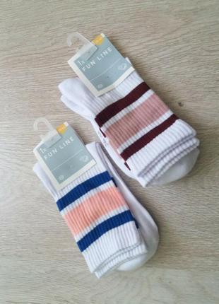 Хлопковые носки  с махровой подошвой c&a германия р. 39/42
