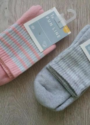 Махровые хлопковые носки с люрексом c&a германия р.35/38 , 39/42