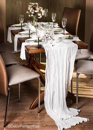 Скатерть дорожка на стол набором с салфетками