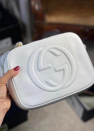 Сумка кожаная клатч кожаный сумочка женская белая