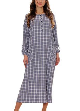 Льняное макси платье 48,50,52 р