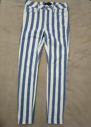 Стильные джинсы, зауженные скини, идеальное состояние, р 12