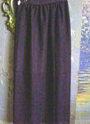 Легкая шифоновая юбка на подкладке, пояс резинка
