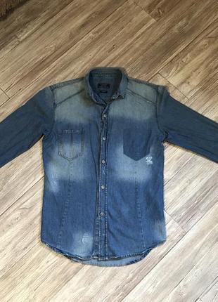 Рубашка джинсовая мужская zara man