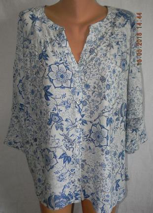 Тонкая легкая натуральная блуза свободного кроя