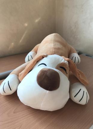 Собака игрушка подушка плед