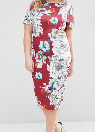 Платье миди asos с цветочным принтом