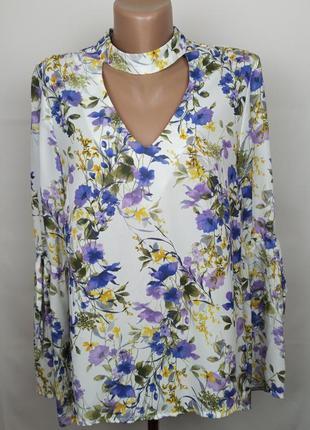 Блуза красивая цветочная george uk 10/38/s