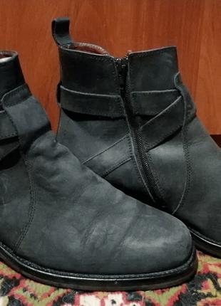 Ботинки сапоги нубук кожа russel & bromley made in italy