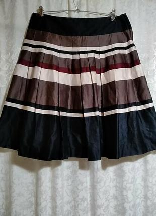 H&m. полосатая юбка в складки