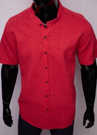 Рубашка мужская льняная porte ricco 16535 батал