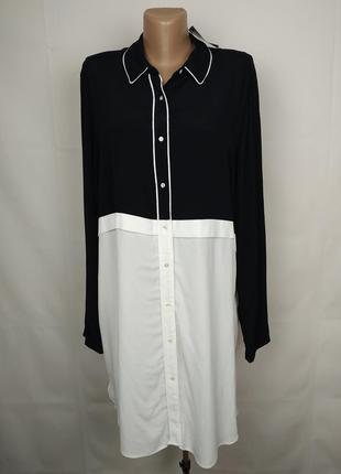 Платье рубашка новая натуральное колор блок next uk 14/42/l