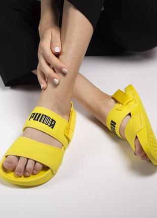 Летние сандалии puma sandal в желтом цвете (36-41)