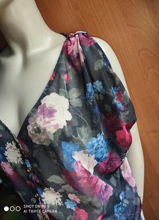 Блуза оверсайз в цветы