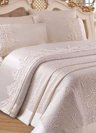 Роскошный постельный комплект размер евро, пр-во турция, фирма оznur сатин,
