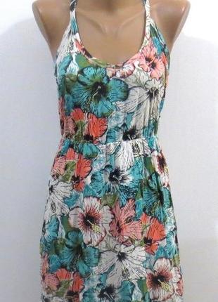 Модный сарафан в цветах от h&m размер: 44-46-s-m