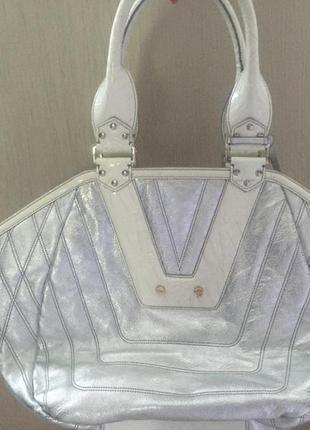 Новая кожаная сумка versace