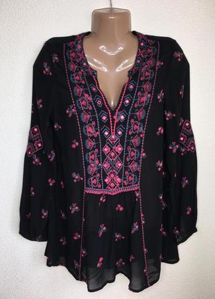 Легкая блуза с красивой вышивкой