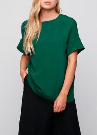 Тёмно-зеленый топ/футболка из плотной вискозной ткани от cos