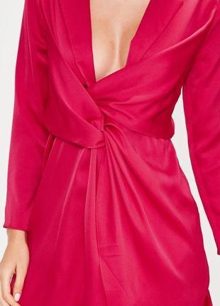 Платье цвета фуксии для невысокой девушки missguided2 фото