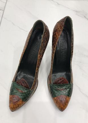Туфли barbato из кожи питона