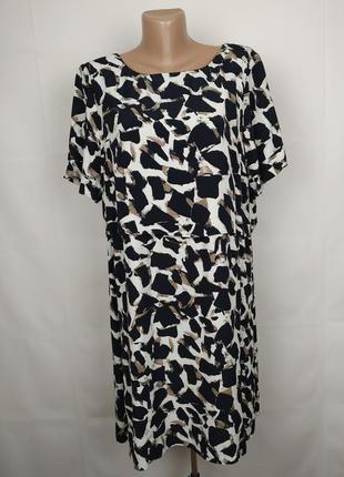 Платье стильное в анималистический принт большого размера marks&spencer uk 20/48/3xl