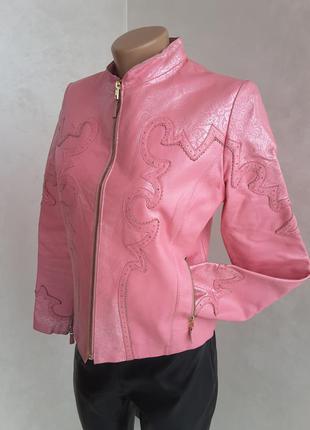Куртка натуральная кожа италия на с - м размер