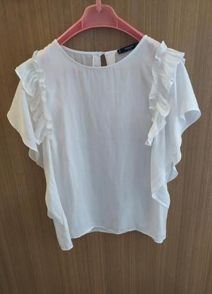 Mango.белая блуза .р.m