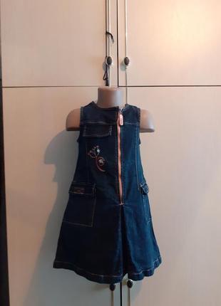 Сарафан, платье детское джинсовое