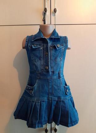 Платье детское джинсовое venus